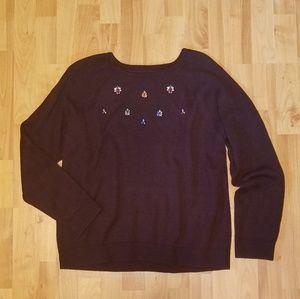 LOFT   jewel embellished sweater
